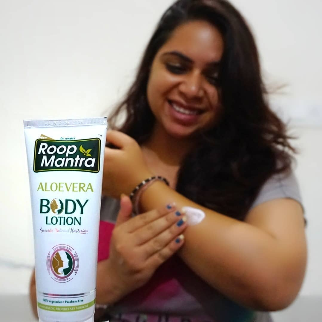 Roop Mantra Aloe vera body lotion-Super affordable and effective body lotion-By sugandhaduggal