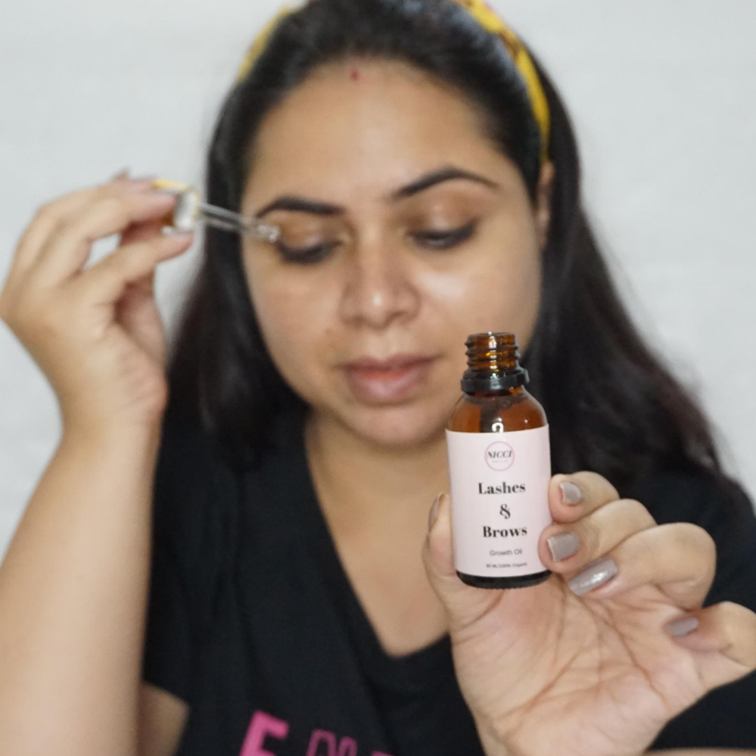 Nicci Lashes & Brows Growth Oil -Effective & highly recommended-By sugandhaduggal