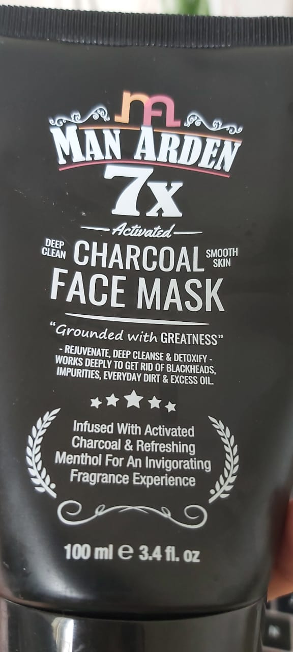 Man Arden 7X Activated Charcoal Face Mask-Fresh and Oil-Free Mask-By sukanya_sinha-1