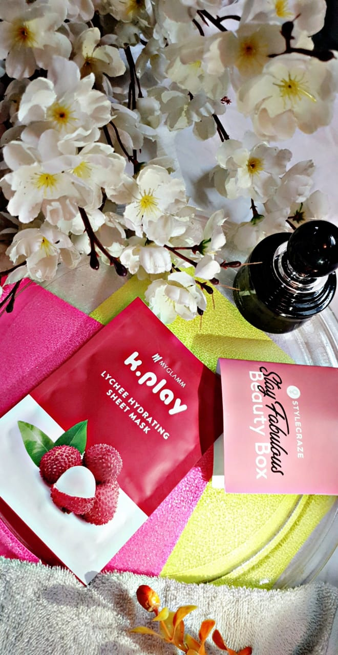 MyGlamm K.Play Lychee Hydrating Sheet Mask pic 2-Glowing & Moisturized Skin-By jyotika_raymond