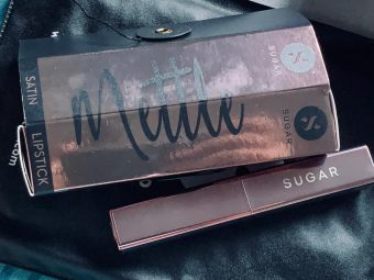 SUGAR Cosmetics Mettle Satin Lipstick pic 1-Too pricey but elegant-By neha_banerze
