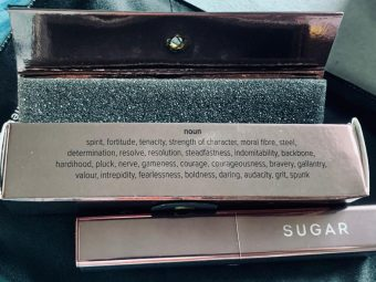 SUGAR Cosmetics Mettle Satin Lipstick pic 2-Too pricey but elegant-By neha_banerze