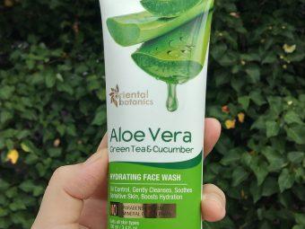 Oriental Botanics Aloe Vera, Green Tea & Cucumber Hydrating Face Wash pic 1-Moisturizing face wash-By shania_sardar