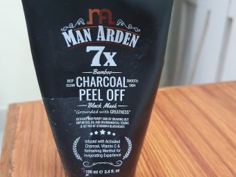 Man Arden 7X Activated Charcoal Peel Off Mask pic 2-just awesome-By lenzzstruck