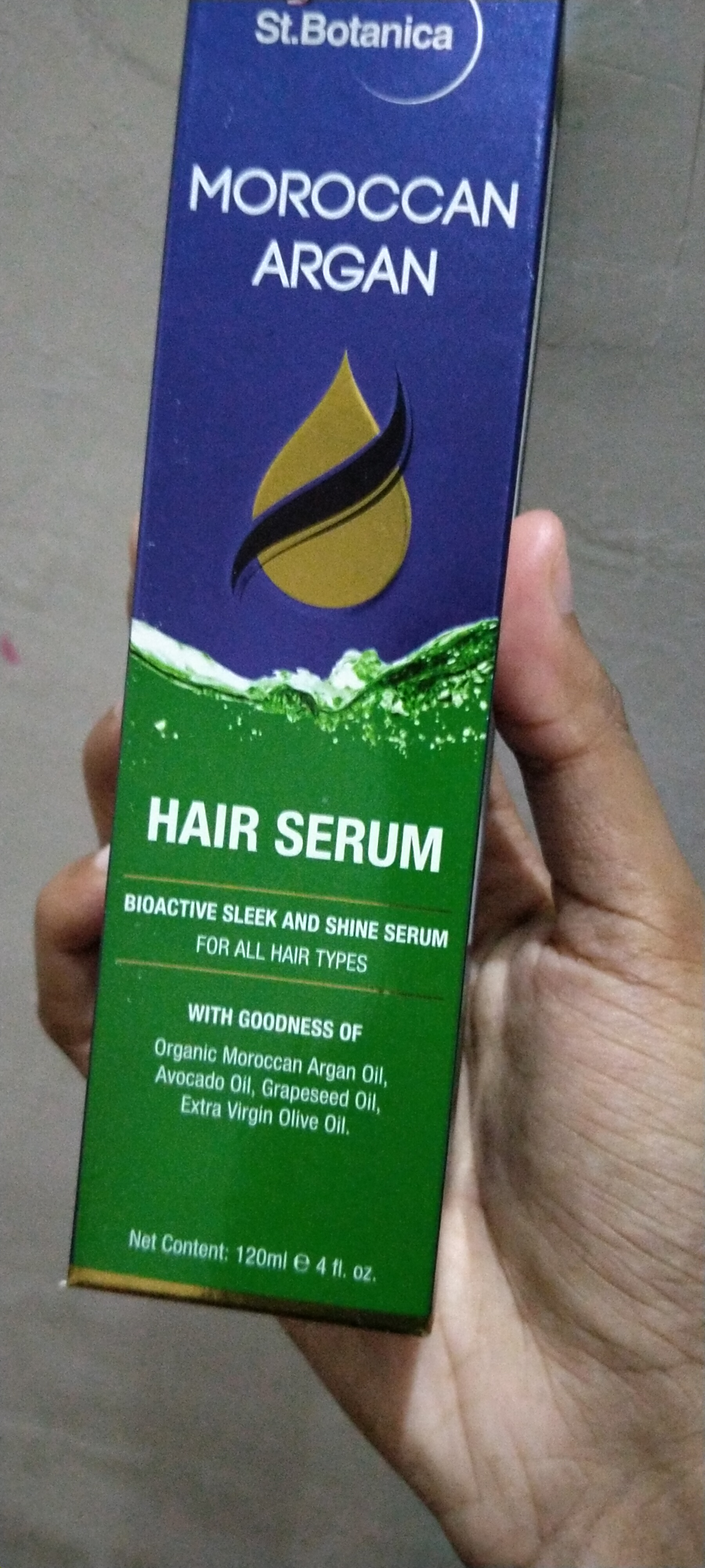 St.Botanica Moroccan Argan Hair Serum-Hair shiny product-By ppvijay