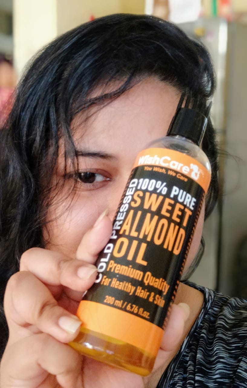 WishCare Pure Cold Pressed Sweet Almond Oil-Very nice-By beyond_life_ordinary_-1
