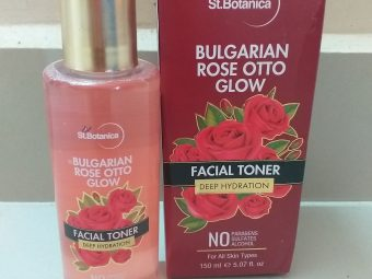 StBotanica Bulgarian Rose Otto Glow Deep Hydration Facial Toner -Excellent facial toner for all skin types-By narghis_
