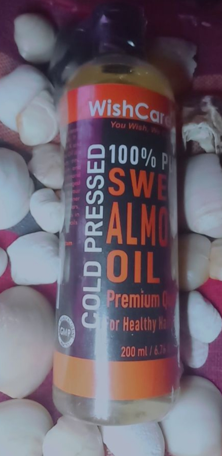 WishCare Pure Cold Pressed Sweet Almond Oil-Purest form of Almond oil one could ask for. Suitable for all types of skin and hair.-By ananya_banerjee_