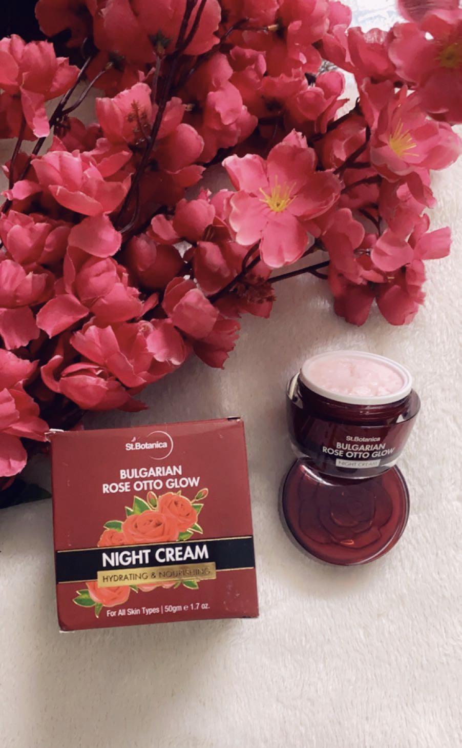 St.Botanica Bulgarian Rose Otto Glow Night Cream -Get rid of dull skin-By ritika_malik
