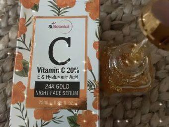 StBotanica Vitamin C 20%, E & Hyaluronic Acid 24k Gold Night Face Serum -keeps my skin hydrated-By mitusigulati