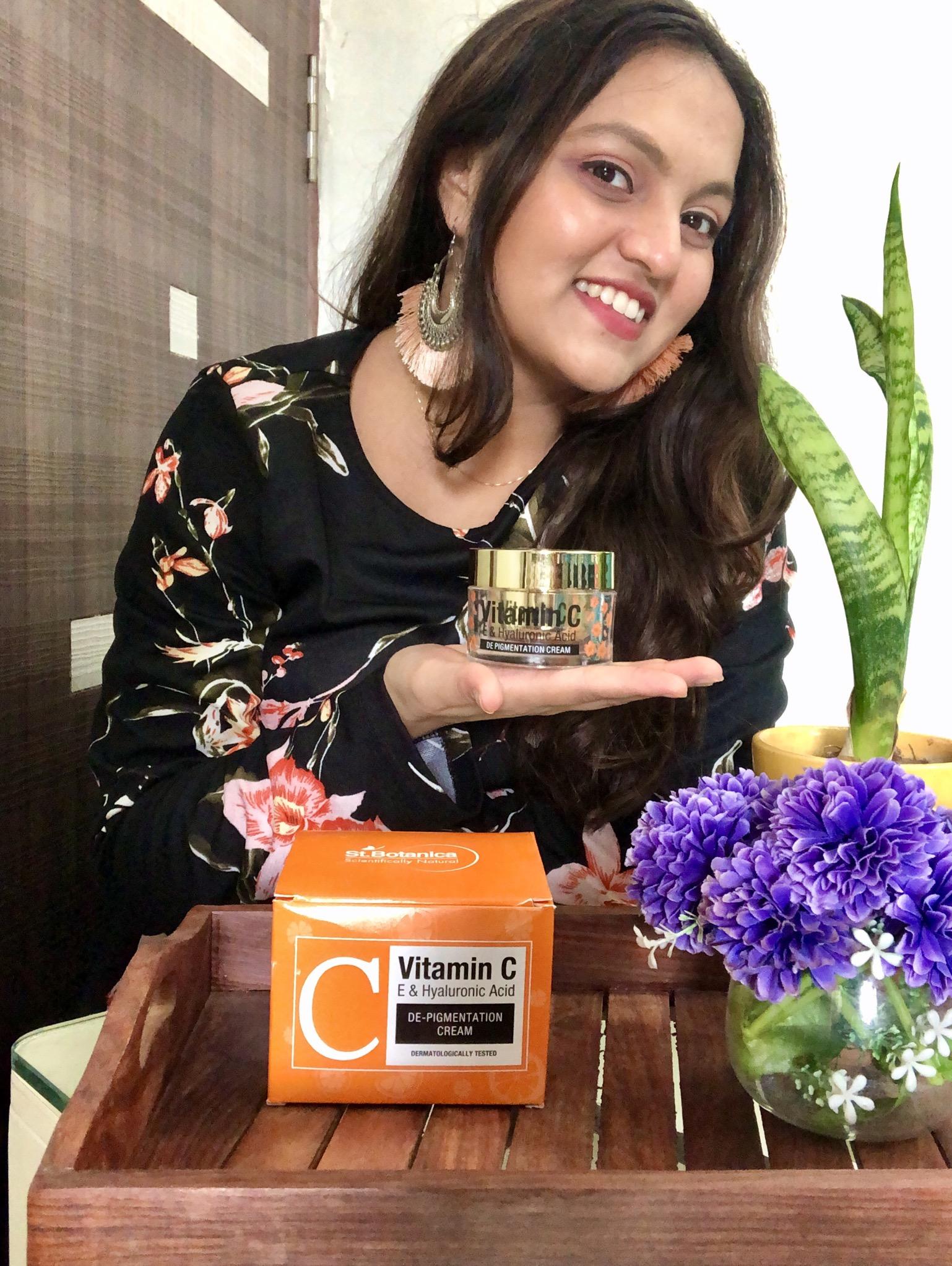 St.Botanica Vitamin C, E & Hyaluronic Acid DePigmentation Cream-Great product-By mansigandhi98