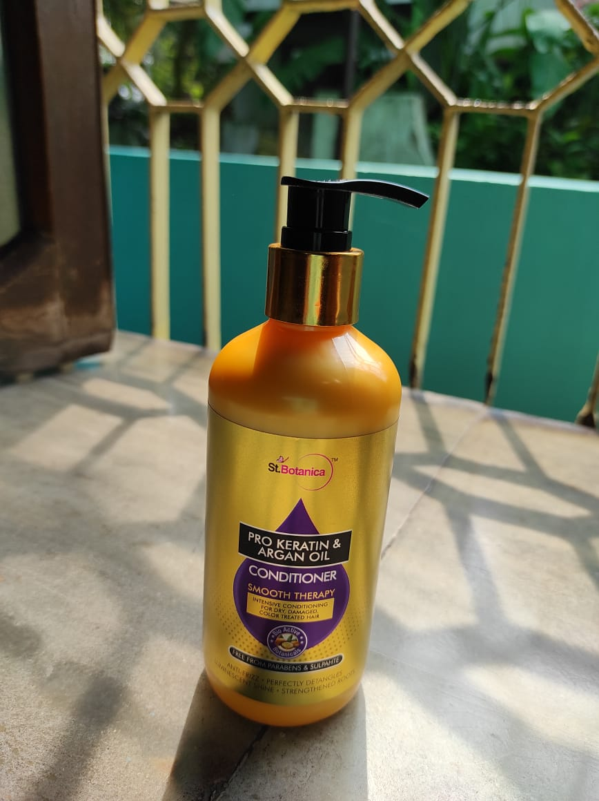 StBotanica Pro Keratin & Argan Oil Conditioner pic 2-Makes hair smooth-By mrin