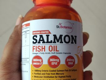 St.Botanica Salmon Fish Oil 1000mg Double Strength 660mg Omega 3 Advanced, 60 Enteric Coated Softgels -Good capsules-By chaé_live