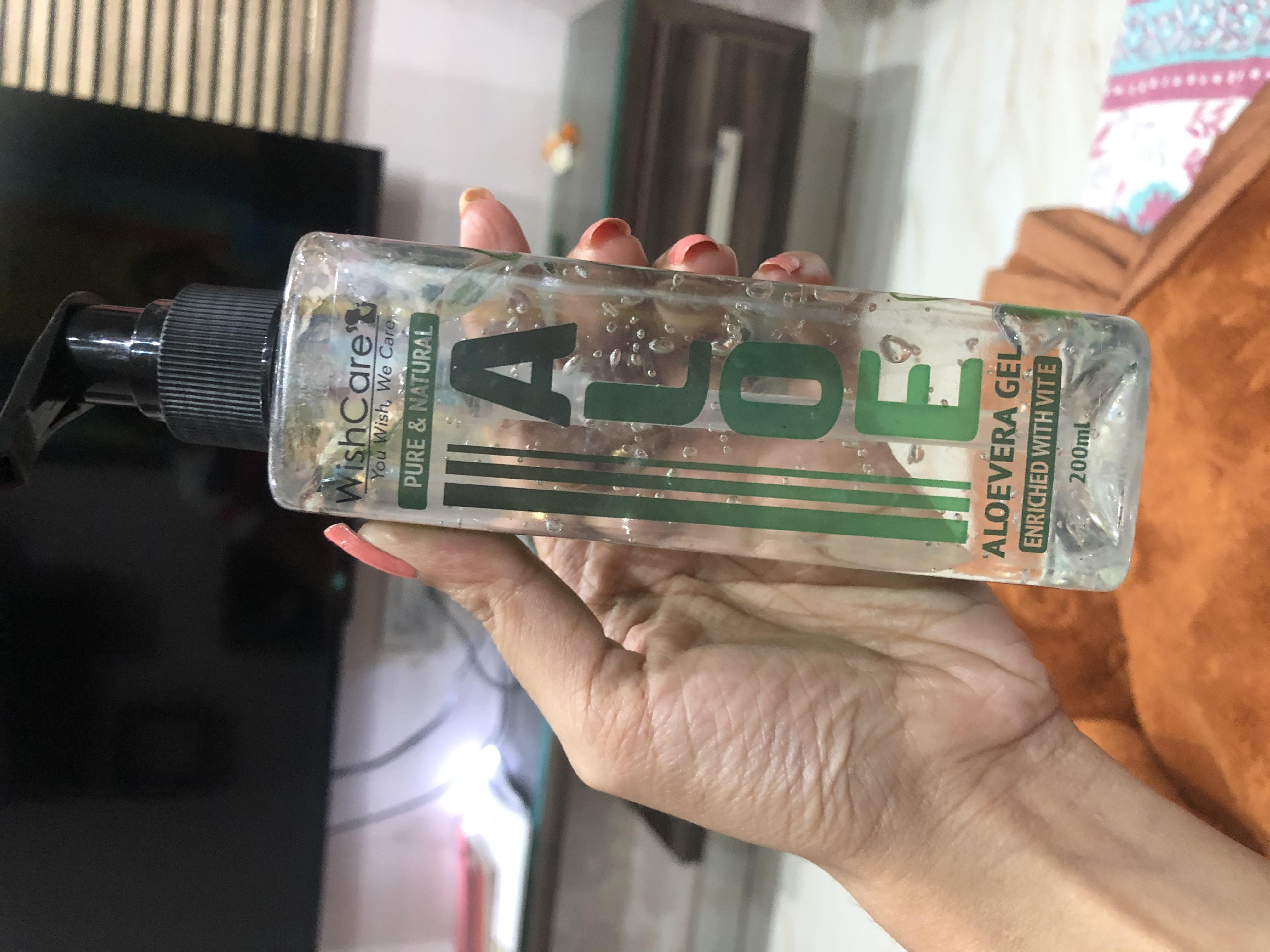 WishCare Pure & Natural Aloe Vera Gel-natural alovera gel- wish care-By priyankaraj