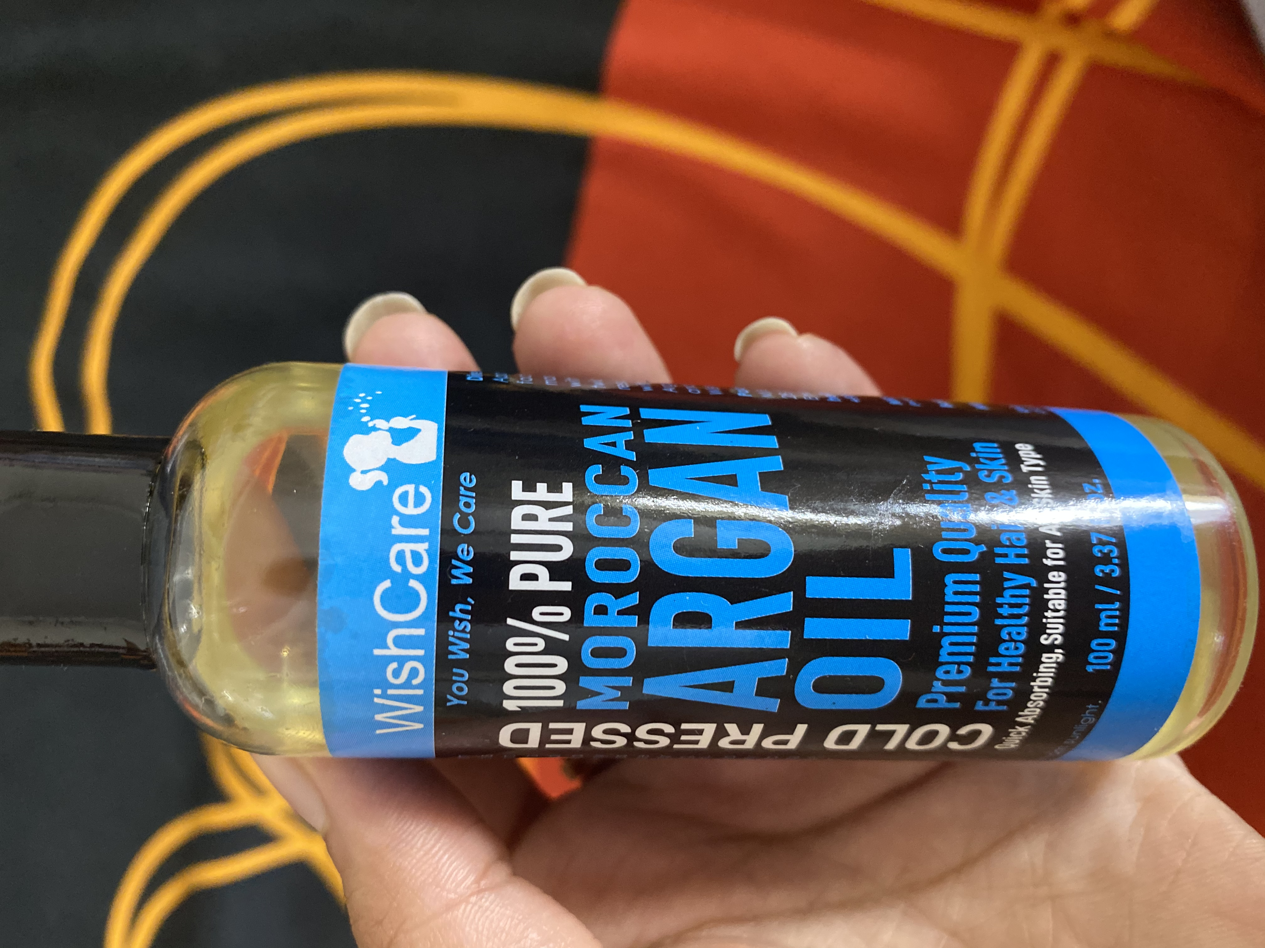 WishCare Pure Cold Pressed Moroccan Argan Oil-Solution to all your hair problems-By uppalekta-1