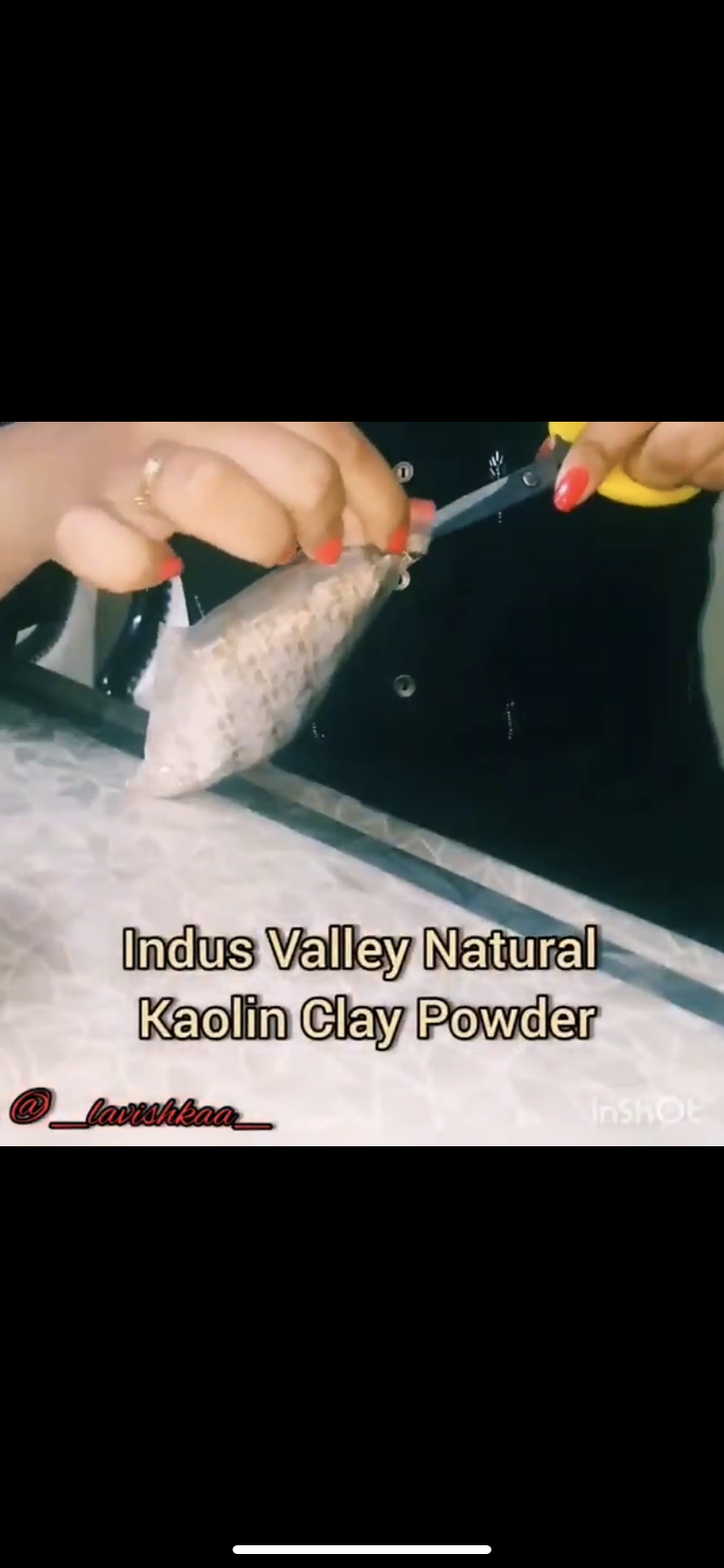 Indus Valley Natural Kaolin Clay Powder For Acne, Blackheads And For Glowing Skin-Taking care of the skin.-By lavishkaa-2
