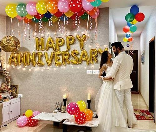 Celebrating Their First Wedding Anniversary