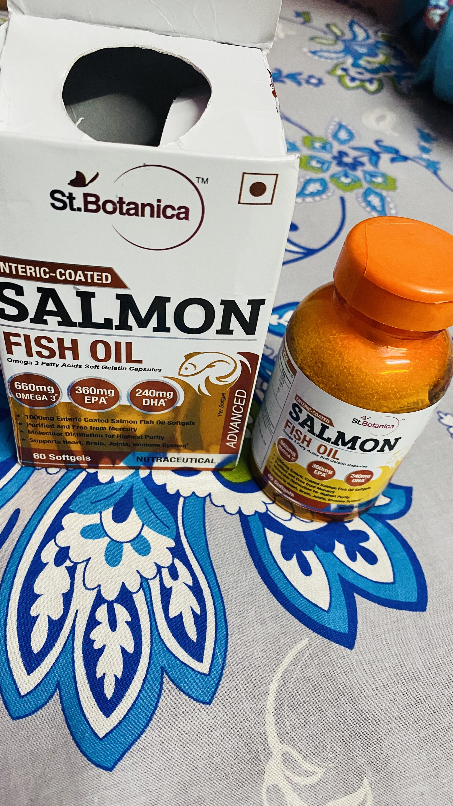 St.Botanica Fish Oil 1000mg Advanced Double Strength -Great for healthy lifestyle-By beauty_by_ranjana
