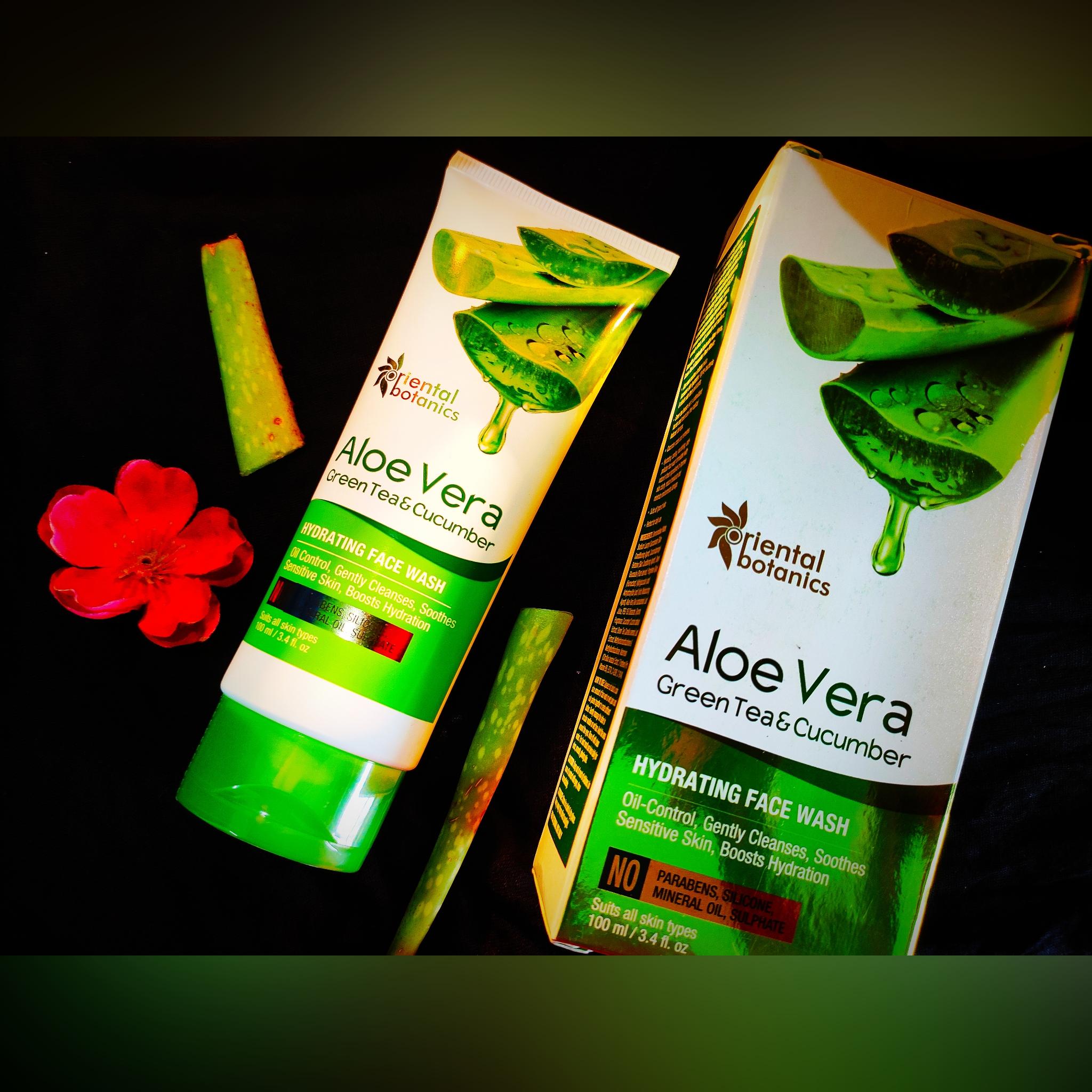 Oriental Botanics Aloe Vera, Green Tea & Cucumber Hydrating Face Wash-Amazing Hydrating Face Wash-By megha_dhar