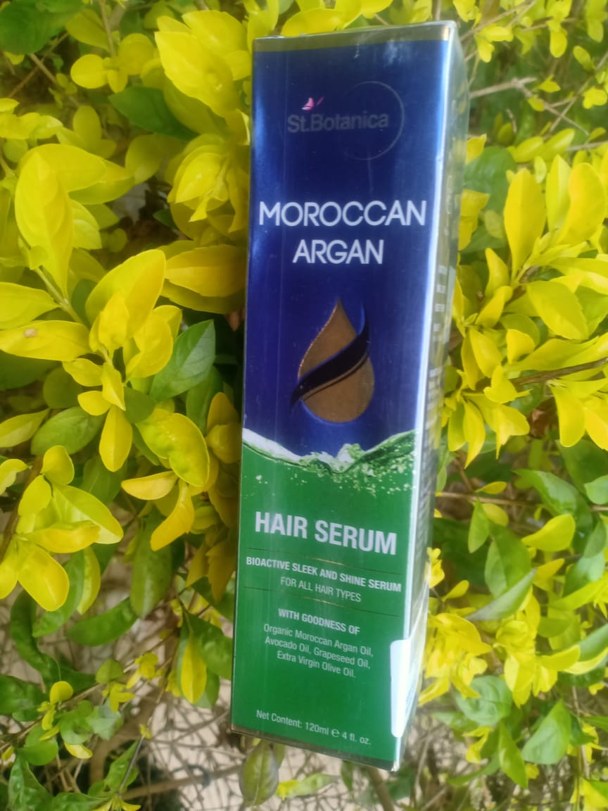 St.Botanica Moroccan Argan Hair Serum-non sticky serum-By realbeauty