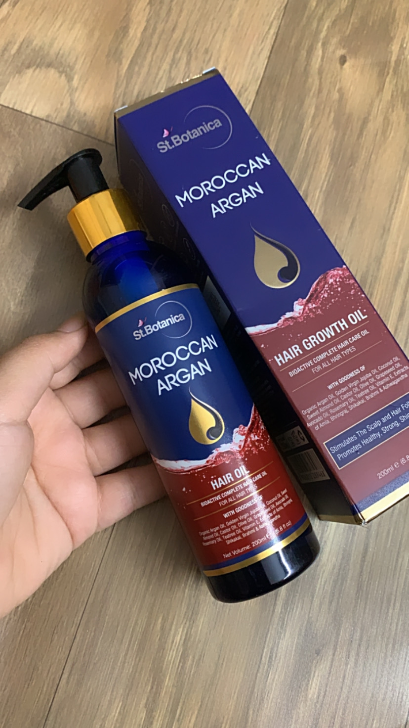 St.Botanica Moroccan Argan Hair Growth Oil -Strongly recommend-By priyaamakhija