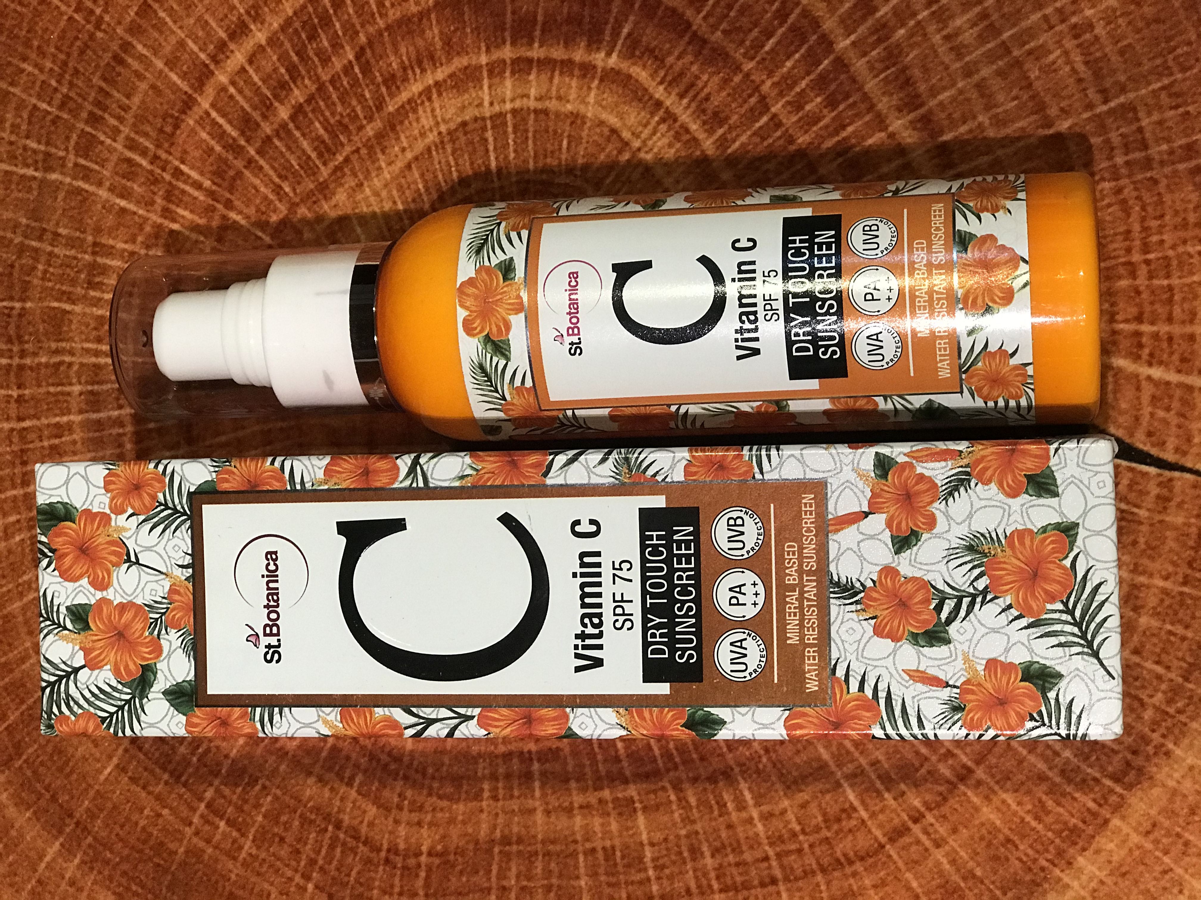 St.Botanica Vitamin C SPF 75 Dry Touch Sunscreen UVA UVB PA+++-Great For Oily Skin-By sunandi_kapoor