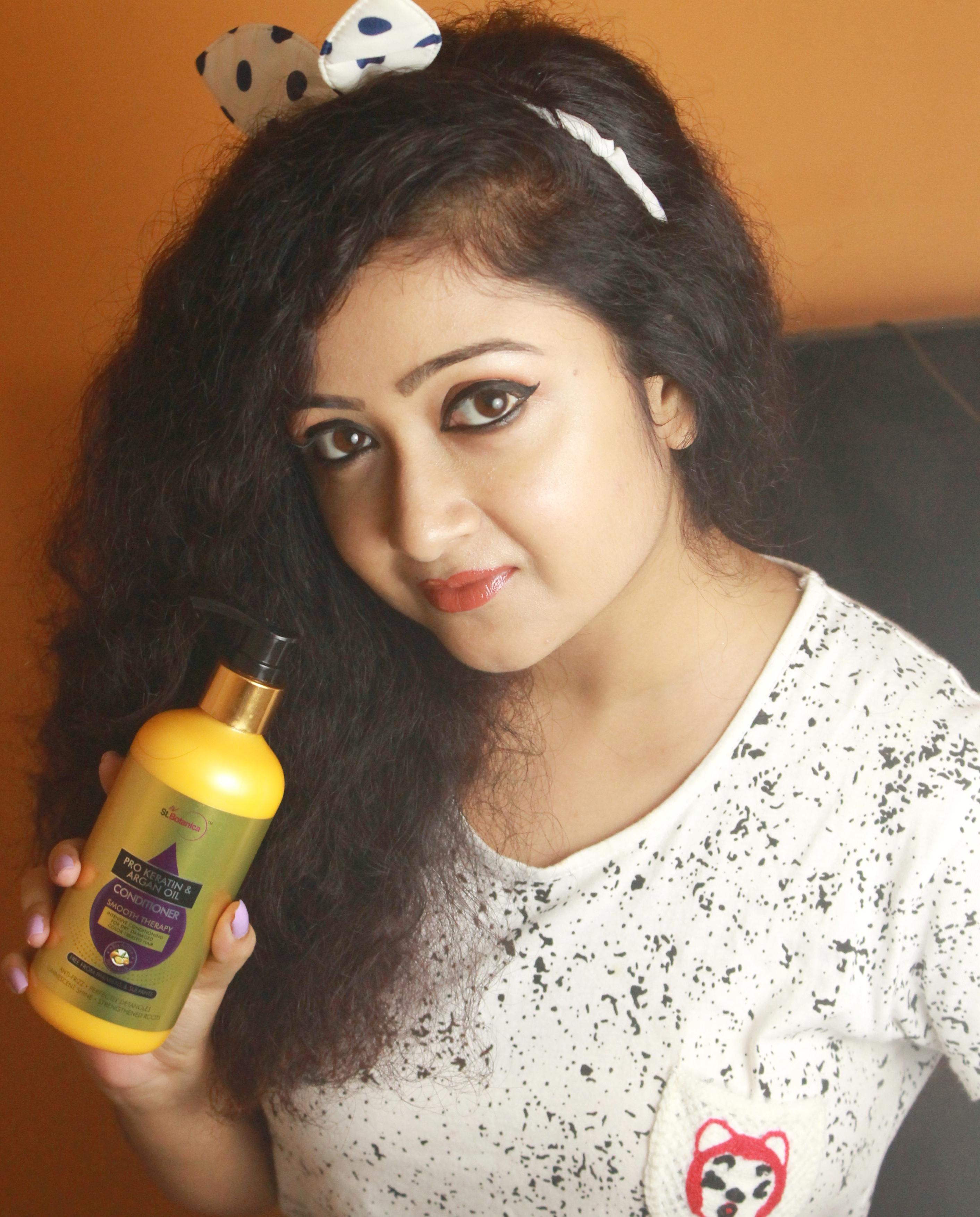 StBotanica Pro Keratin & Argan Oil Conditioner pic 2-Salon like smooth hair!-By debolina_sen