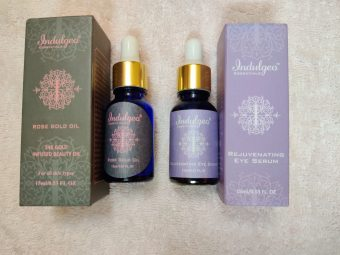 Indulgeo Essentials Rose Gold Oil -Absolutely amazing – magic of organic luxury-By swetagoel