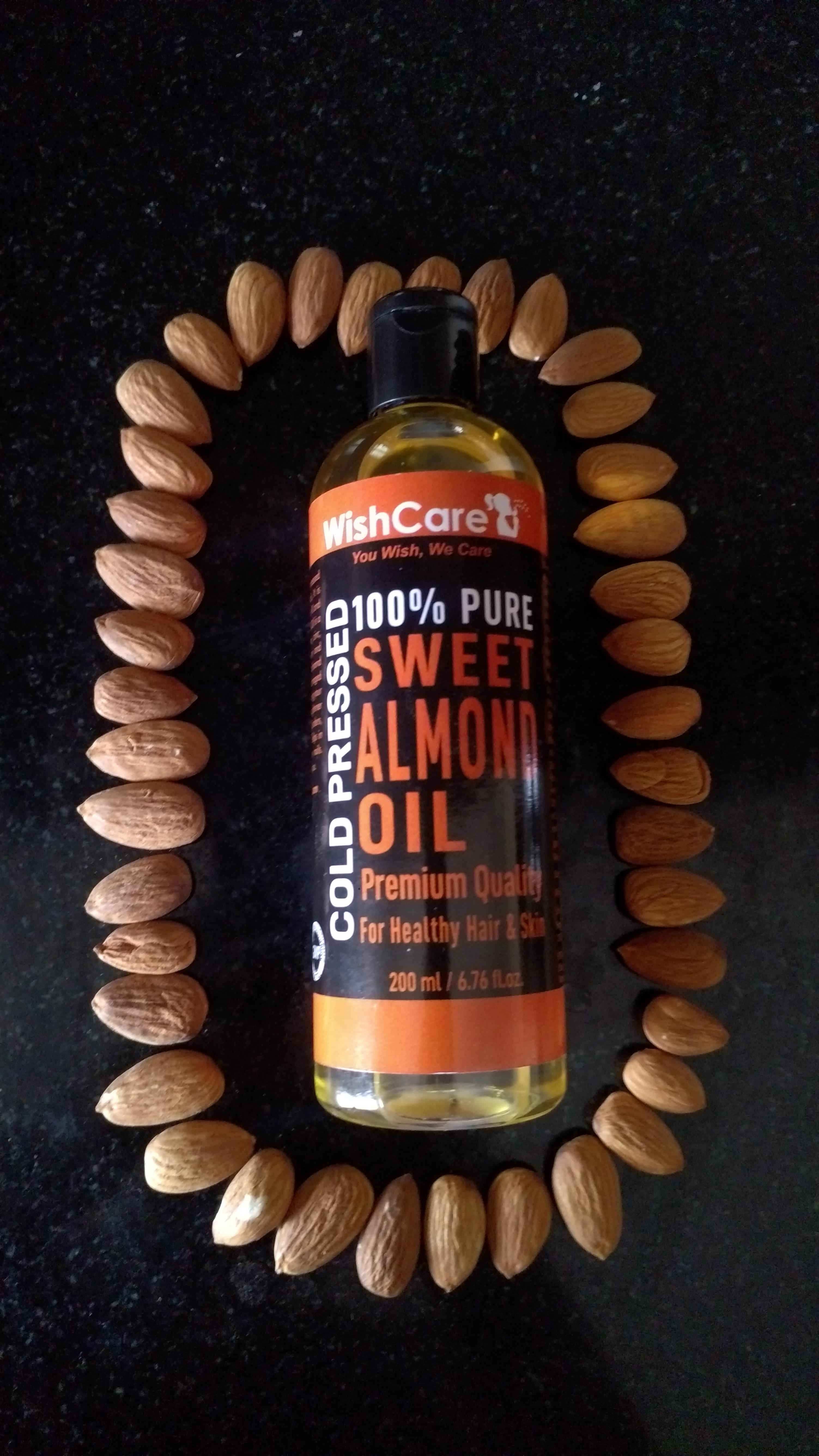 WishCare Pure Cold Pressed Sweet Almond Oil-Nice hair oil …-By sreekala