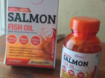 St.Botanica Salmon Fish Oil 1000mg; 300mg Omega-3 with 180mg EPA, 120mg DHA – 60 Enteric Coated Softgels -Best choice-By jyothi15792