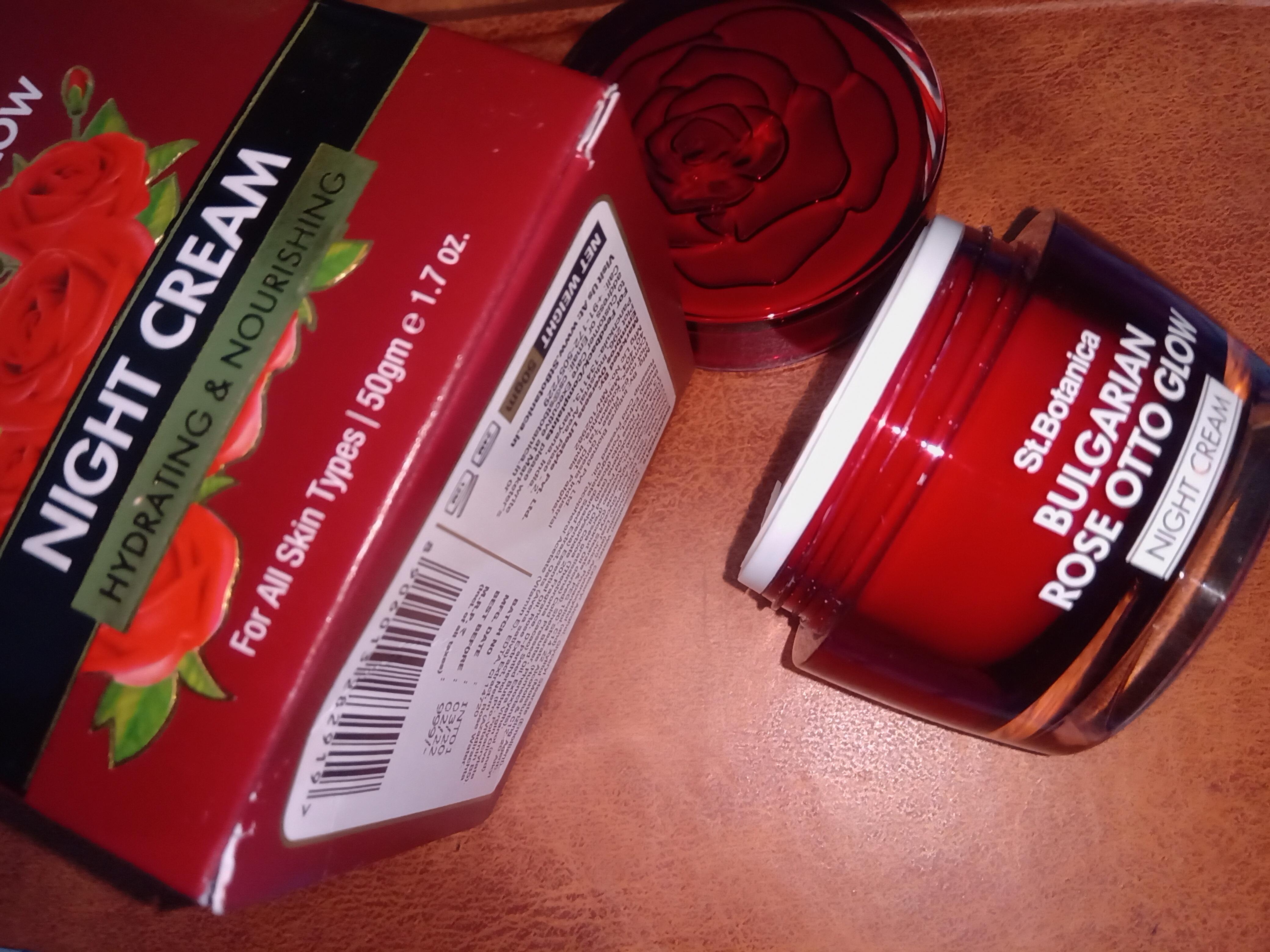 St.Botanica Bulgarian Rose Otto Glow Night Cream -Effective night cream-By miss_mohinto