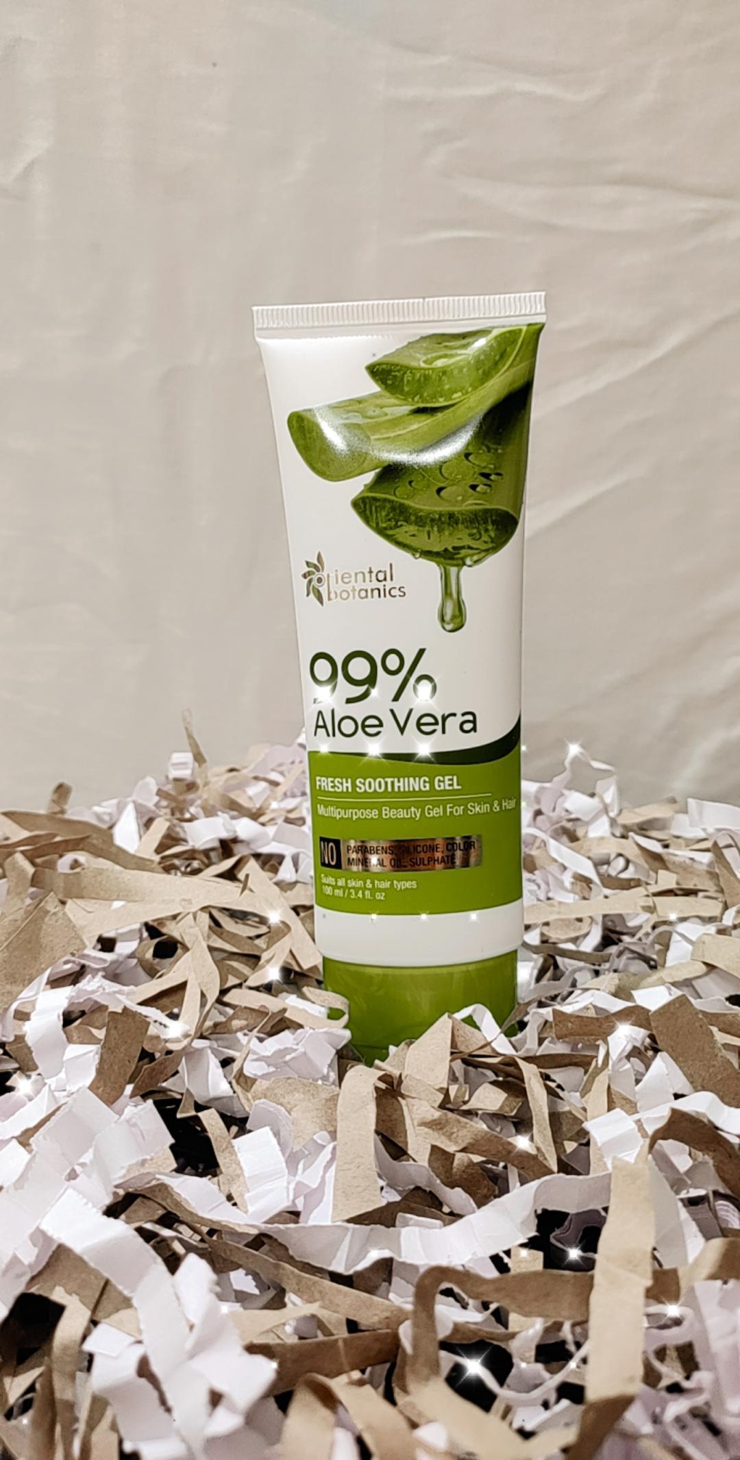Oriental Botanics 99% Aloe Vera Fresh Soothing Gel For Skin & Hair-Life saviour product!-By taniyawarke