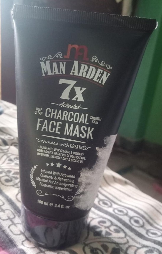 Man Arden 7X Activated Charcoal Face Mask pic 2-For sensitive skin-By aditya_kumar_gupta