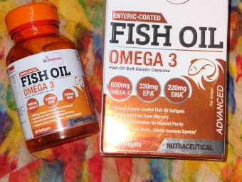 St.Botanica Salmon Fish Oil 1000mg; 300mg Omega-3 with 180mg EPA, 120mg DHA – 60 Enteric Coated Softgels pic 1-Great product at very affordable price-By radhika_kapoor