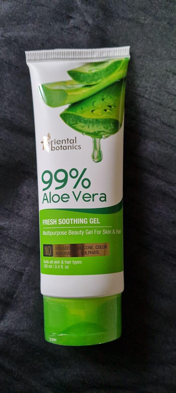 Oriental Botanics 99% Aloe Vera Fresh Soothing Gel For Skin & Hair-Best Aloe Vera gel-By nisish