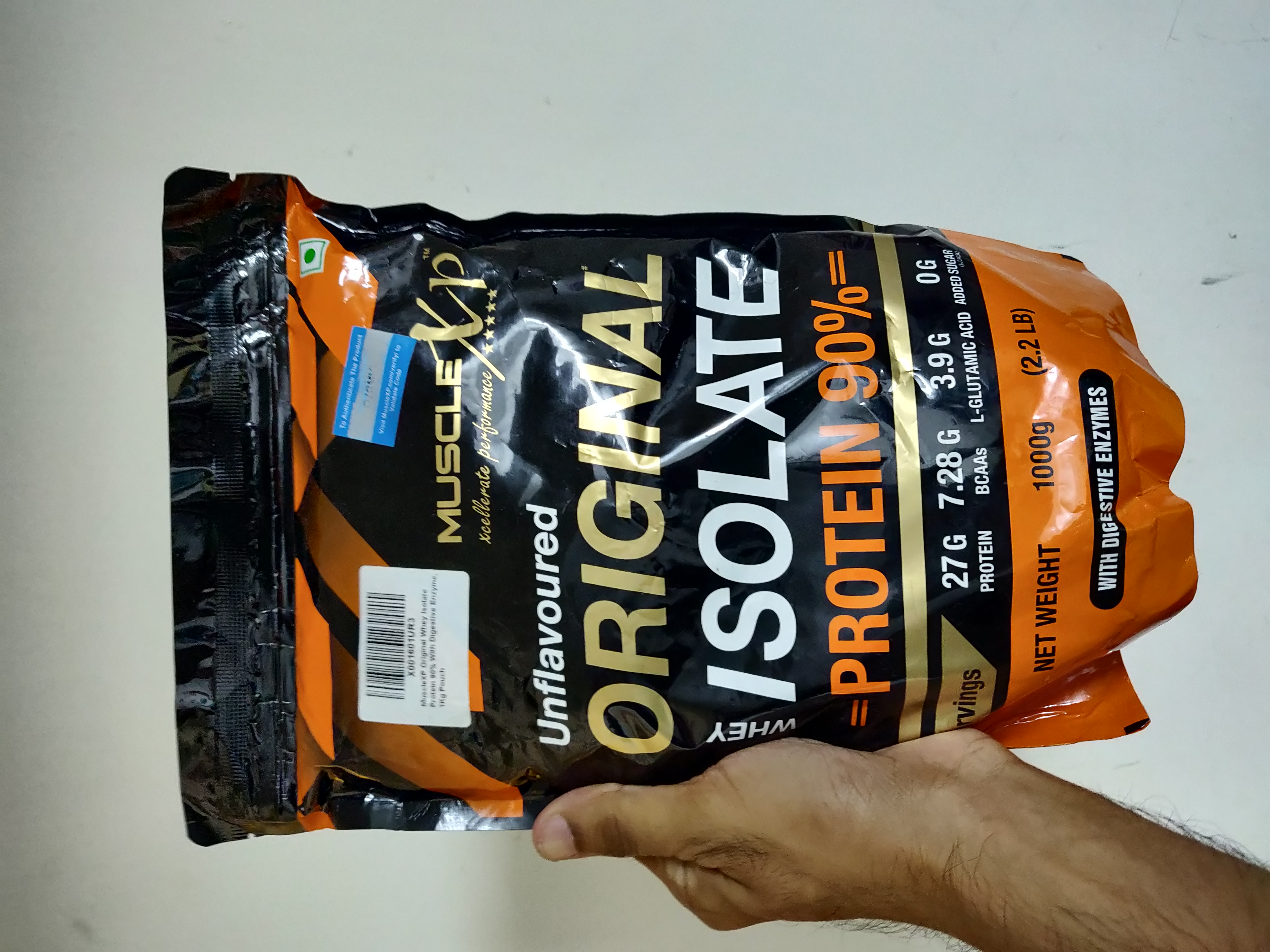MuscleXP Original Whey Isolate Protein 90% With Digestive Enzyme-A Great protein-By hkmurali-2