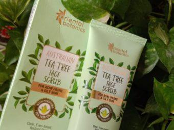 Oriental Botanics Australian Tea Tree Face Scrub -Scrub for cleansing-By shail2594