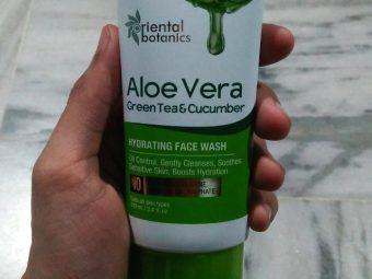 Oriental Botanics Aloe Vera, Green Tea & Cucumber Hydrating Face Wash pic 2-Best hydrating facewash-By beauty__diaries