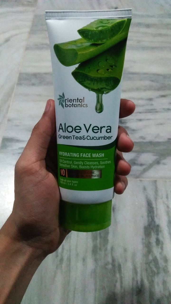 Oriental Botanics Aloe Vera, Green Tea & Cucumber Hydrating Face Wash-Best hydrating facewash-By beauty__diaries-2