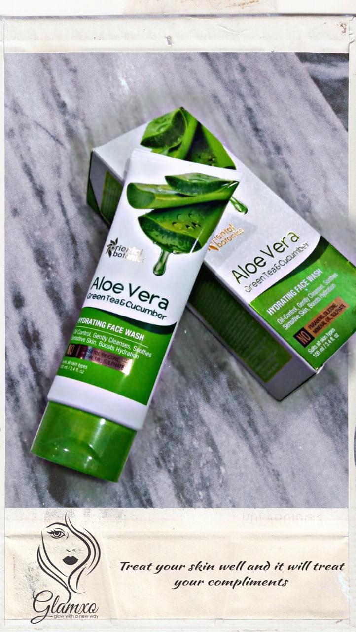 Oriental Botanics Aloe Vera, Green Tea & Cucumber Hydrating Face Wash-Best hydrating facewash-By beauty__diaries-1