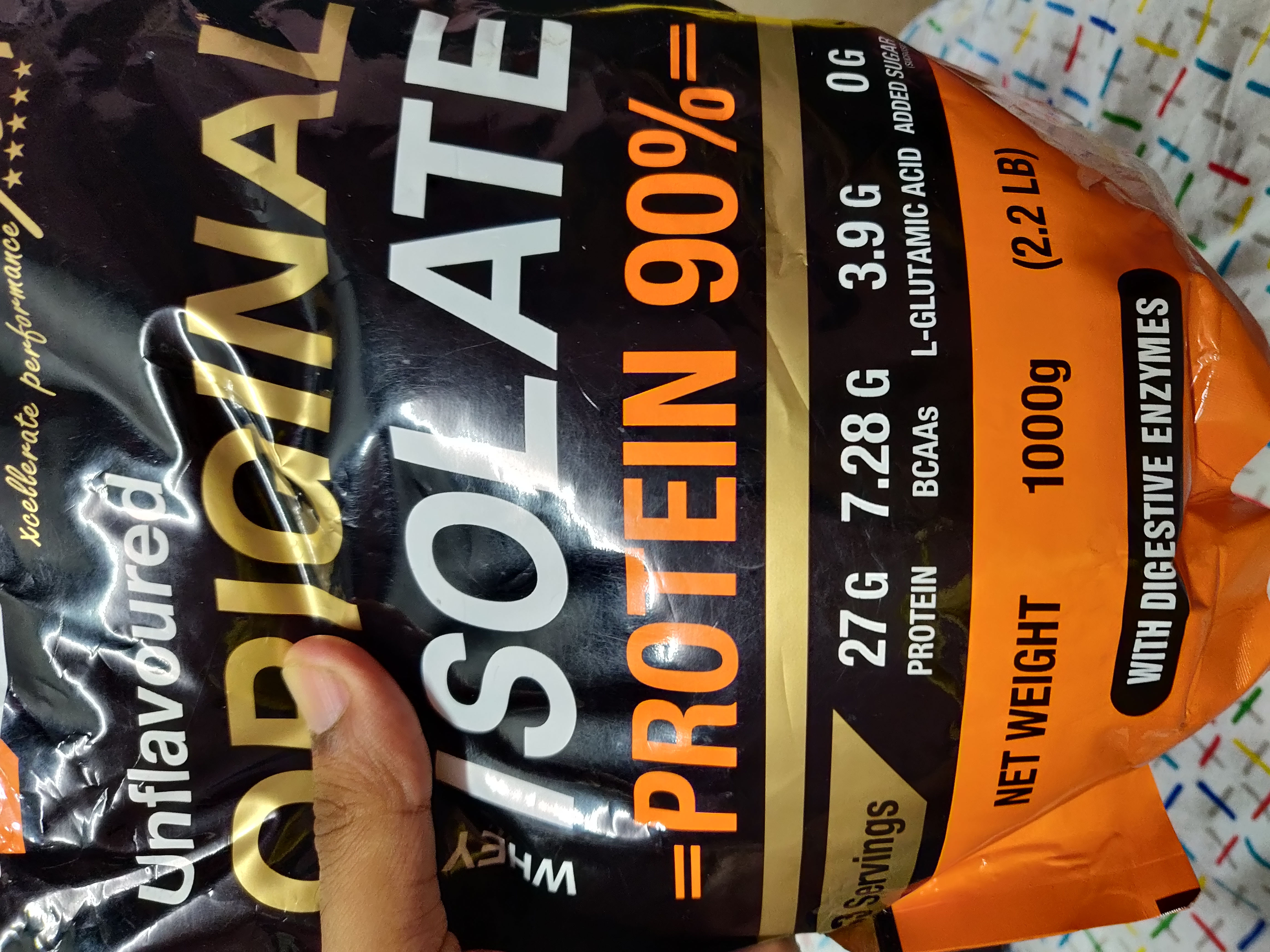 MuscleXP Original Whey Isolate Protein 90% With Digestive Enzyme-A Great protein-By hkmurali-1