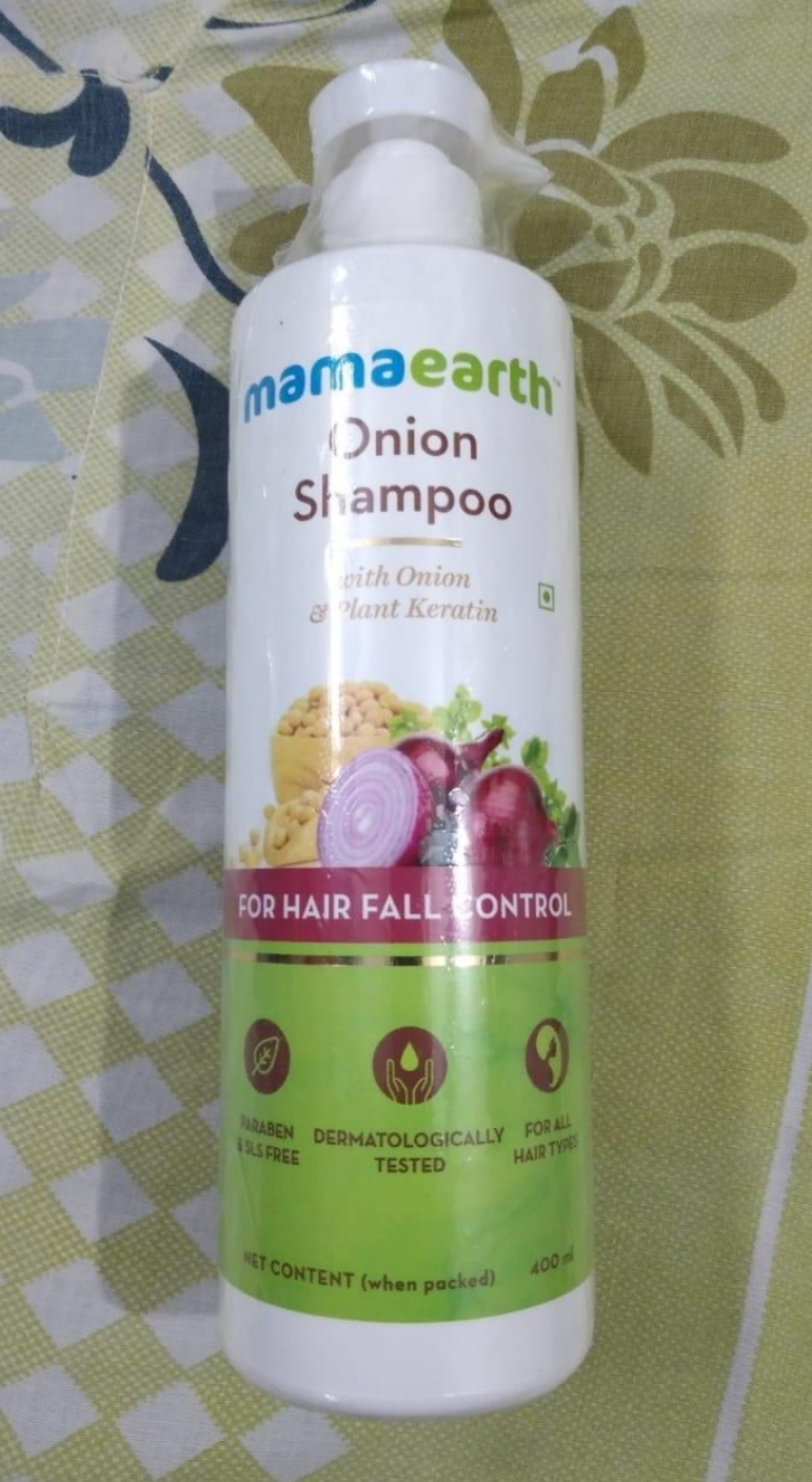 Mamaearth Onion Hair Fall Shampoo for Hair Growth & Hair Fall Control-Perfect shampoo for hairfall-By monika_maheshwari