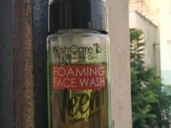 WishCare Foaming Neem Face Wash -Foaming face wash-By kaplishjyoti