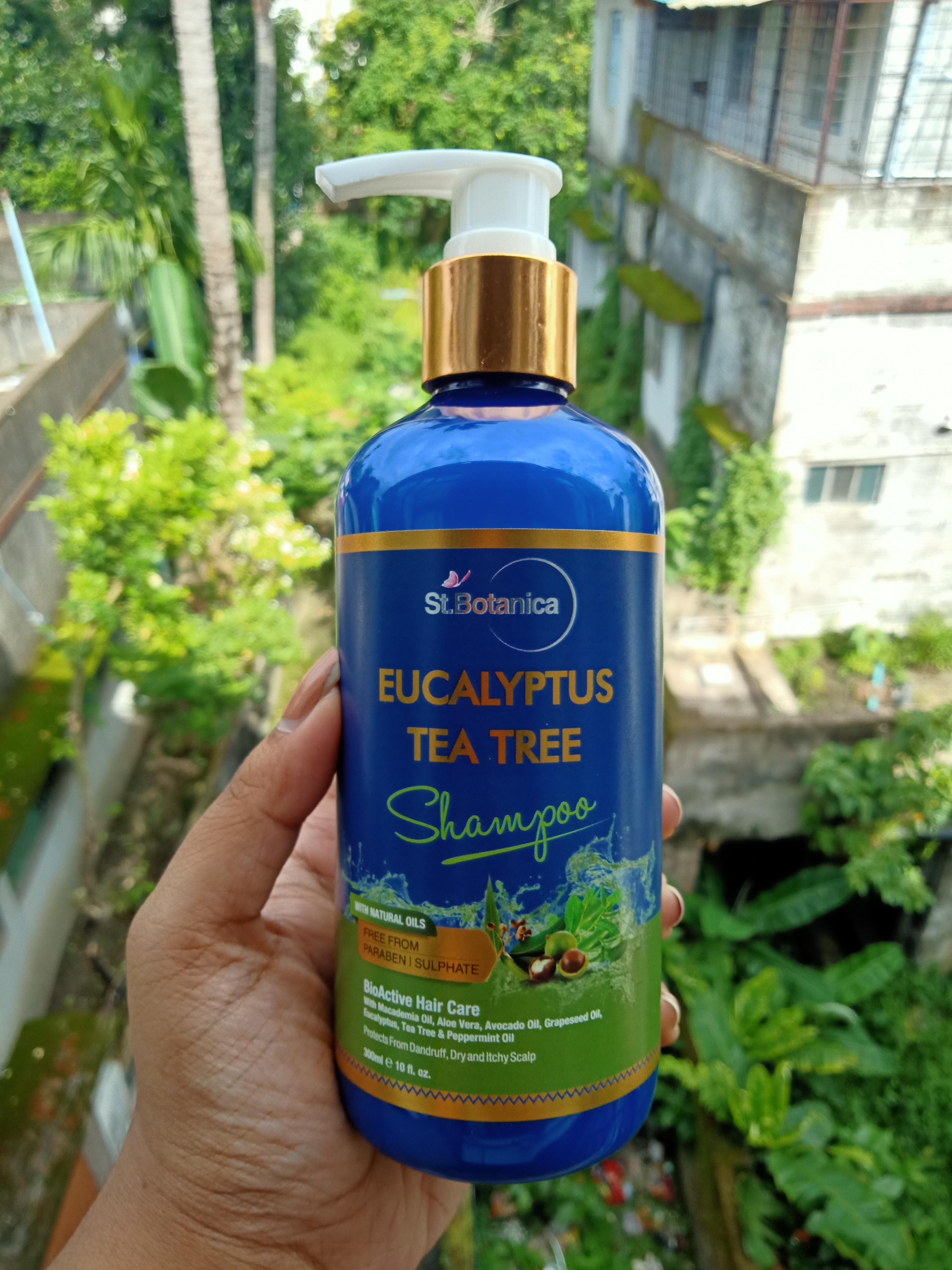 St.Botanica Eucalyptus & Tea Tree Dry Hair Repair Shampoo pic 1-Smooth No Drandruff Hair.-By rweehma