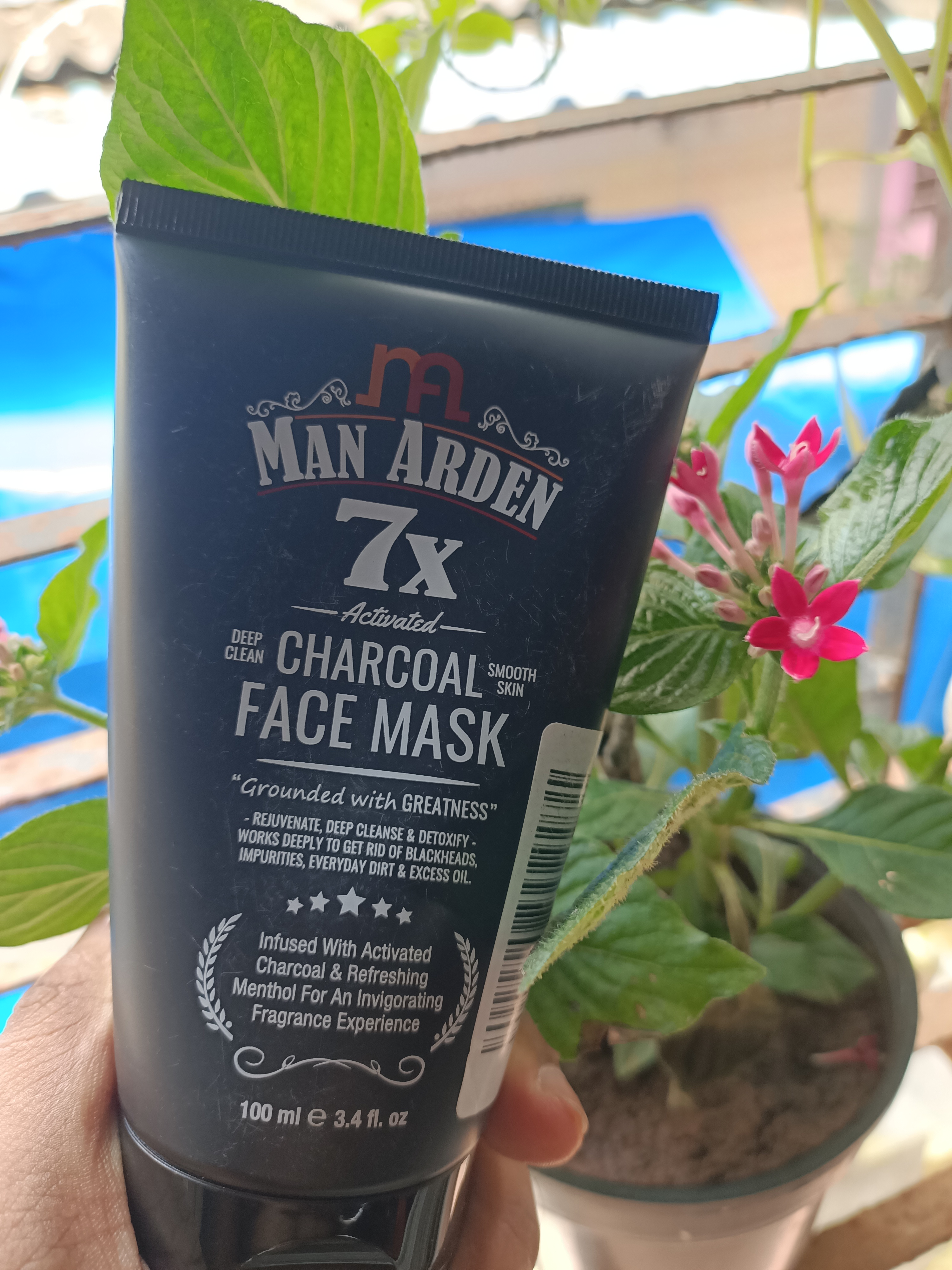 Man Arden 7X Activated Charcoal Face Mask -Best Charcoal FaceMask-By sapan