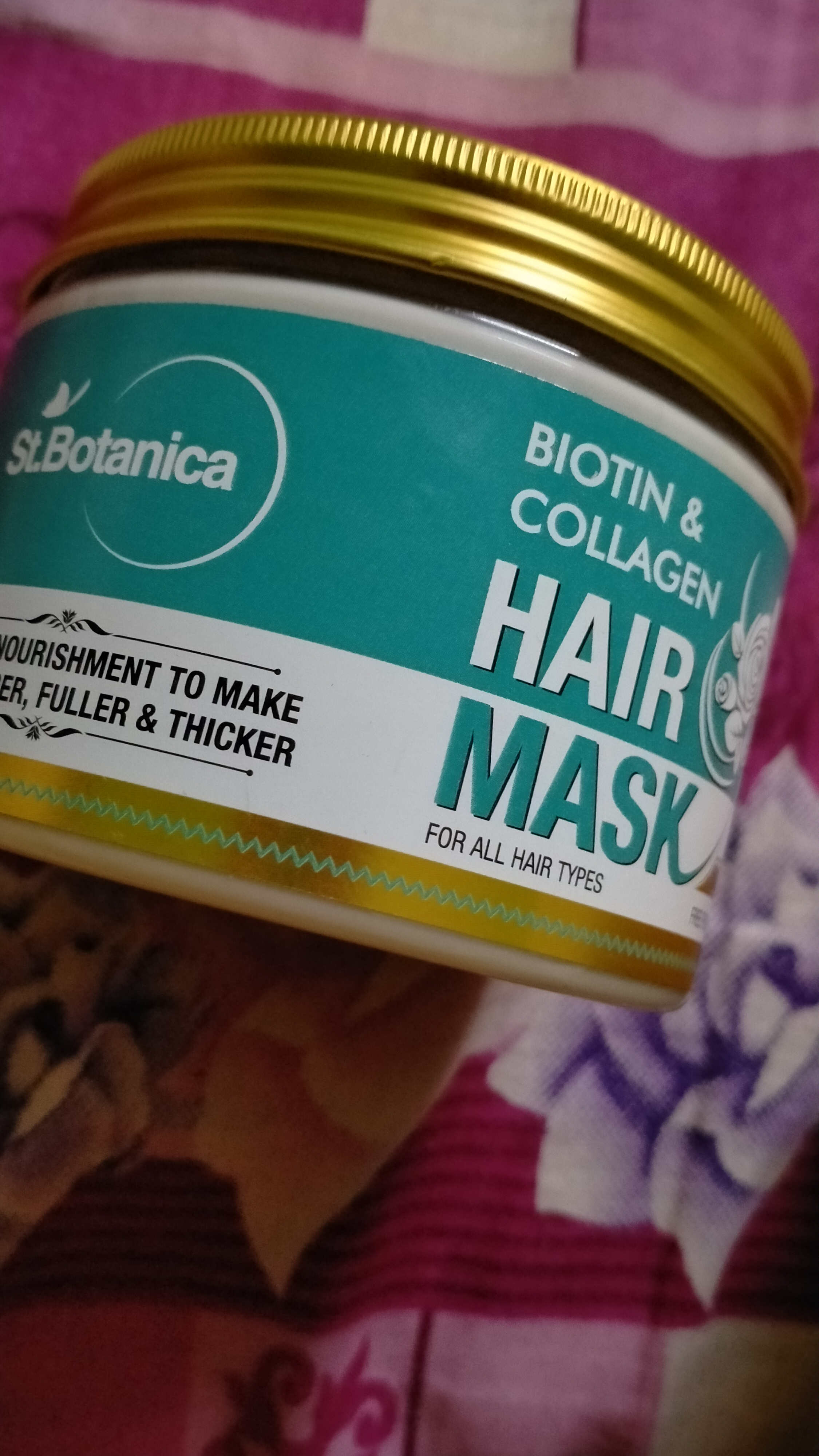 St.Botanica Biotin & Collagen Hair Mask-Makes the hair straight instantly-By _dazzling_diva