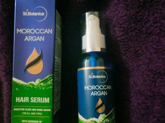 St.Botanica Moroccan Argan Hair Serum -Smoothening and antifrizz serum-By barkhafoodmaata