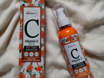 St.Botanica Vitamin C SPF 75 Dry Touch Sunscreen UVA UVB PA+++ -Best sunscreen ever-By rit__singh