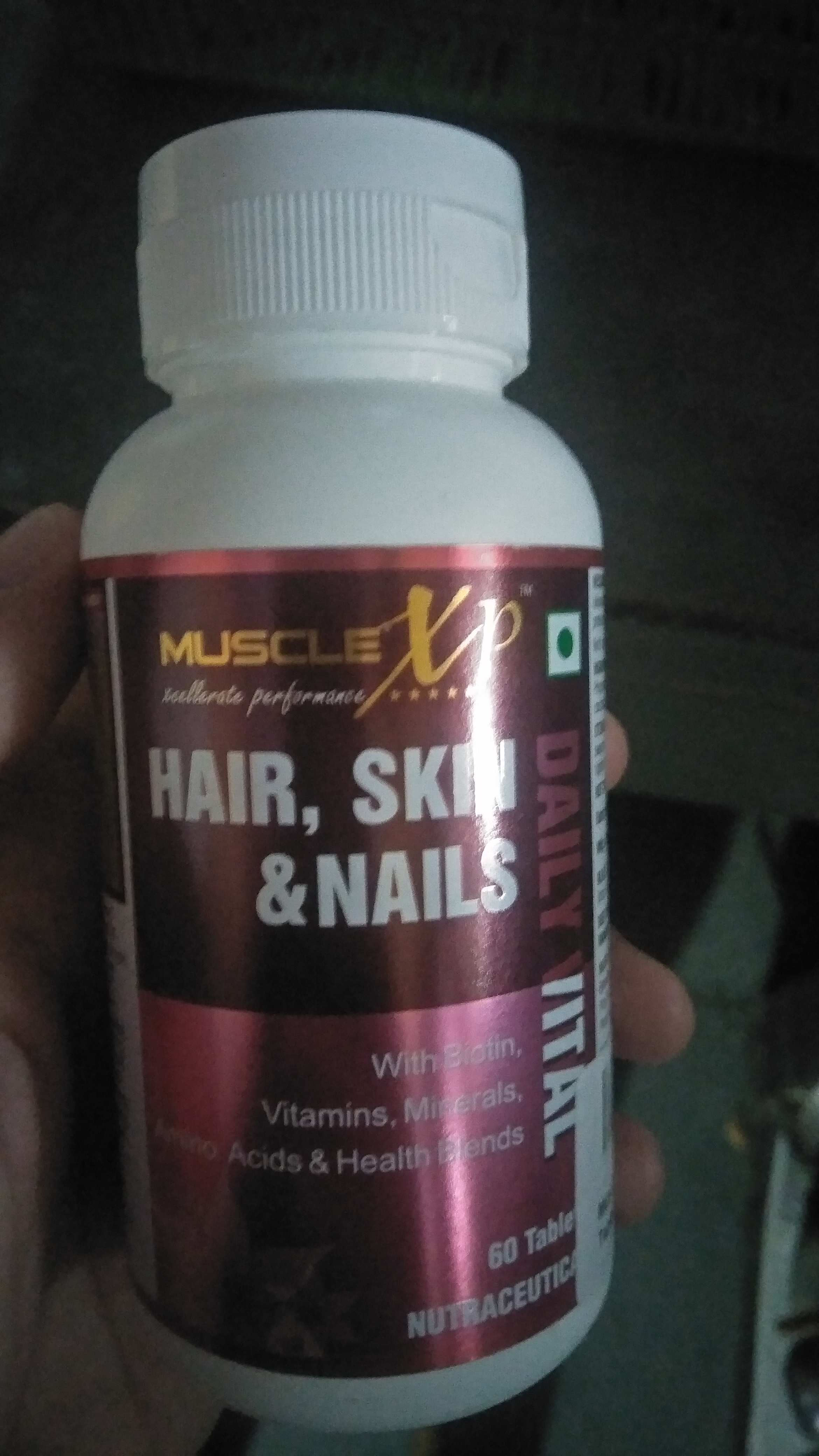 MuscleXP Biotin Hair, Skin & Nails Complete MultiVitamin With Amino Acids -Best for skin and hairs-By satyam