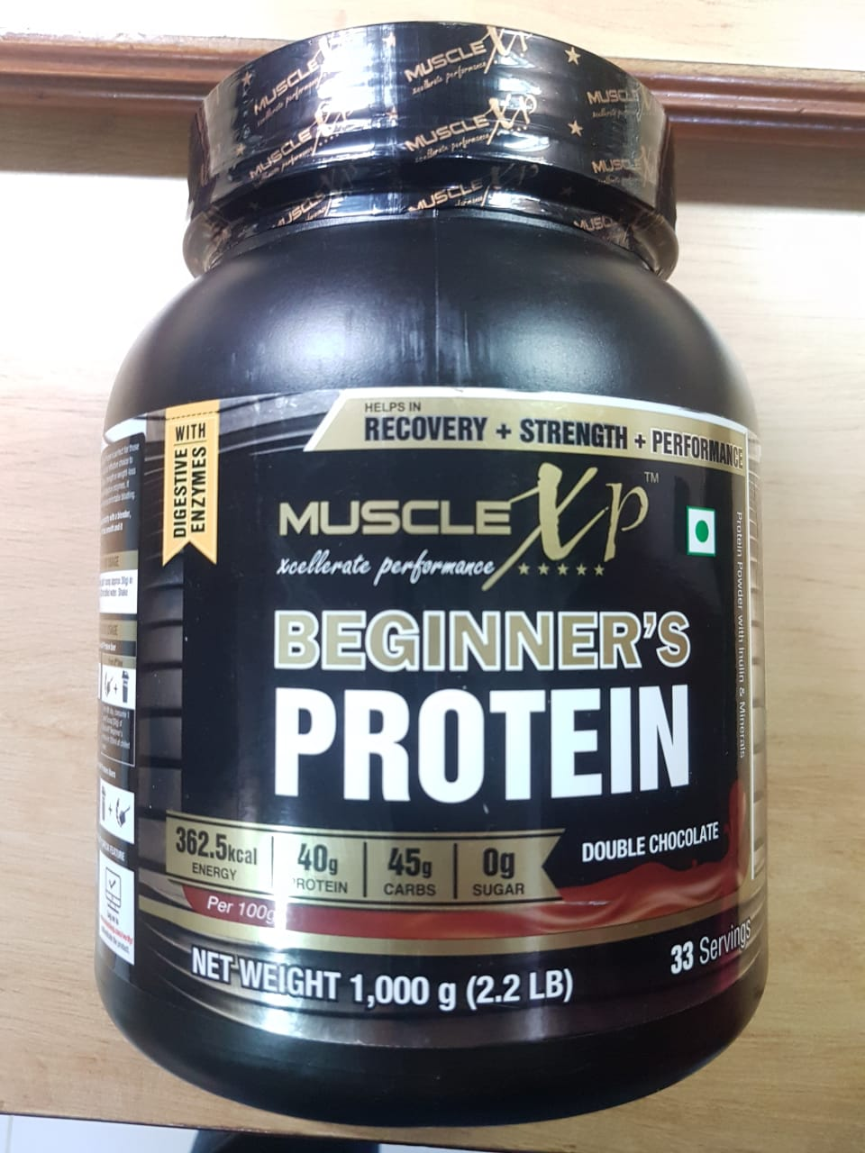 MuscleXP Beginner's Protein With Digestive Enzymes-Right Protein for Muscle Building-By amantorka